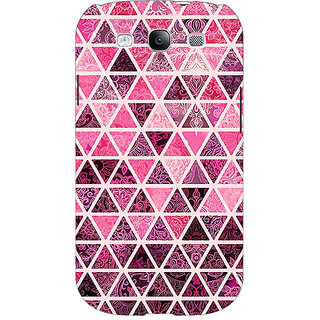 Enhance Your Phone Red Triangles Pattern Back Cover Case For Samsung Galaxy S3 Neo E340266