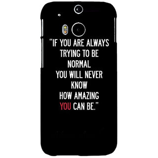 Enhance Your Phone Quote Back Cover Case For HTC One M8 Eye E331472