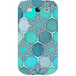 Enhance Your Phone Floral Hexagons Pattern Back Cover Case For Samsung Galaxy S3 Neo GT- I9300I E350281
