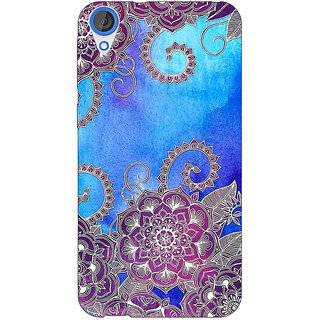 Enhance Your Phone Girly Floral Pattern Back Cover Case For HTC Desire 820Q Dual Sim E360208