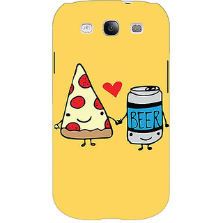 Enhance Your Phone Pizza Loves Beer Back Cover Case For Samsung Galaxy S3 Neo E341141