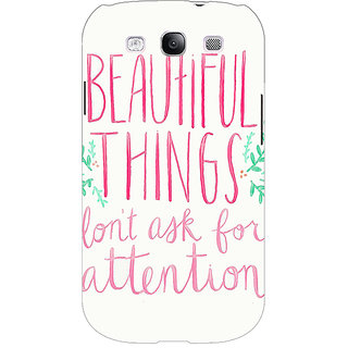 Enhance Your Phone Beautiful Quote Back Cover Case For Samsung Galaxy S3 Neo GT- I9300I E351367