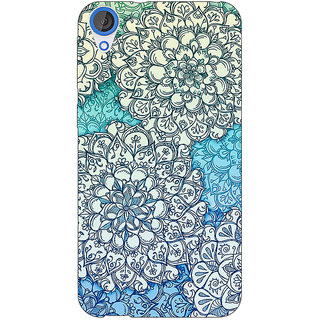 Enhance Your Phone Floral Blue Pattern Back Cover Case For HTC Desire 820Q Dual Sim E360228