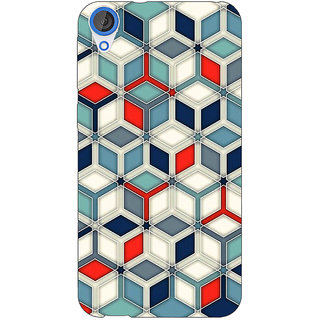 Enhance Your Phone Wild Hexagon Pattern Back Cover Case For HTC Desire 820Q Dual Sim E360282