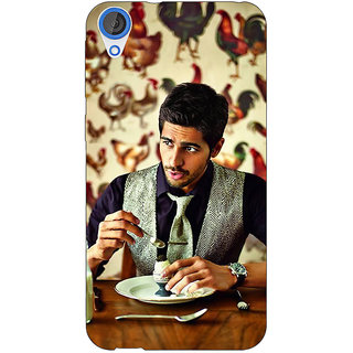 Enhance Your Phone Bollywood Superstar Siddharth Malhotra Back Cover Case For HTC Desire 820Q Dual Sim E360942
