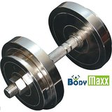 40 Kg Home Gym Body Maxx Chrome Steel Plates With 2 Dumbells Rods.!! Adjustable