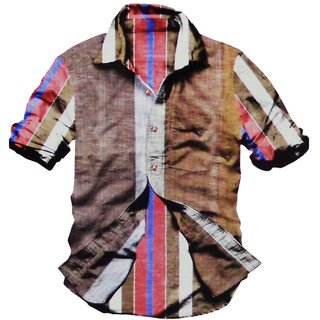 Smooth Good Quality Cotton & Rich Color Men's Semi Formal/Casual Shirt (526)