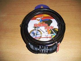 4 Digit Number Lock - Bike Helmet Lock / Steel Cable Lock / Bicycle Cycle Lock