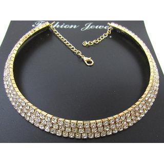 Lovely stone Golden kada necklace set