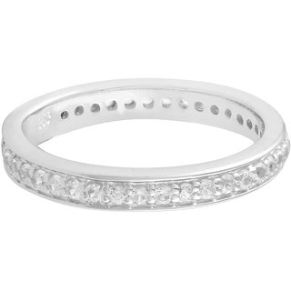 925 Sterling Silver White Topaz studded Ring by Allure Jewellery
