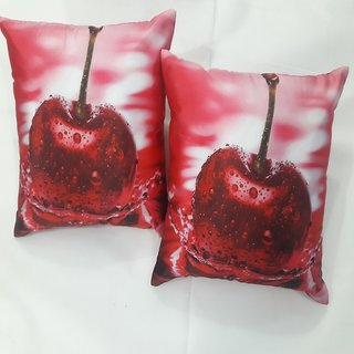 Cherry Homes Digital print contemporary cushion cover a pack of 2 pcs (16x16)