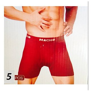Amul Macho Plain Long Trunk Pack of 5 Multi Color