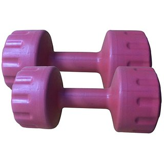 Body Fit Set Of PvcDumbbells 2 Kg Each ( Assorted Colors)