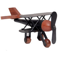 Wooden  Iron Plane Home Decor  Toy