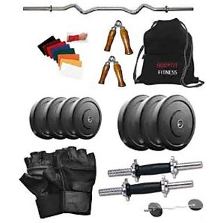 Total Gym 10 Kg 3ft Curl Rod and Dumbbell Rods With Grip and Bag