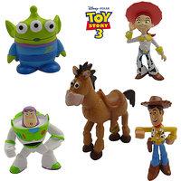 5x Disney Toy Story Woody Buzz Lightyear Jessie Aliens Bullseye Action Figure