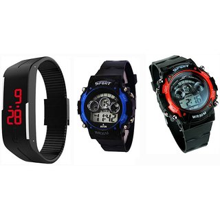 10x Sports Combo of 3 Men Watches