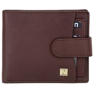 Brown Leather Regular Wallet For Men (Synthetic leather/Rexine)