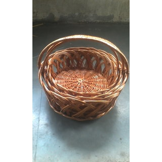rope boxes and basket decor large p willow brown ml round baskets x in essentials decorative household