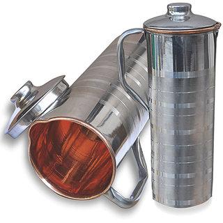 f82e8dba261 Buy Rime India() Luxury Copper Steel Fridge Water Bottle Set of 2 ...