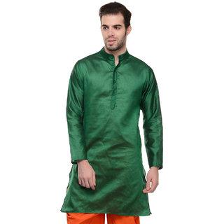 Lavennder Orange Casual Wear Long Kurta for Men