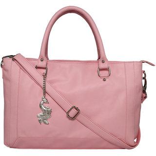 Peacock PU Pink Hand Bag AILB-2038