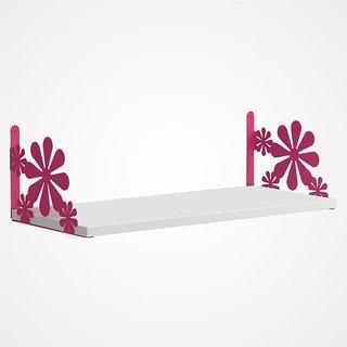 The New Look Flower Steel Wooden wall Shelf