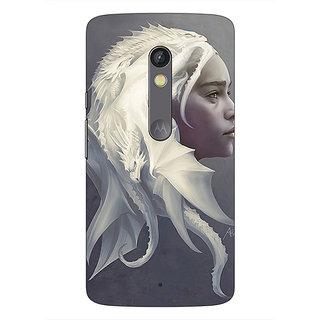 Enhance Your Phone Game Of Thrones GOT House Targaryen  Back Cover Case For Moto X Play E660141
