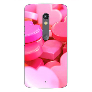 Enhance Your Phone Heart Candies Back Cover Case For Moto X Play E660739