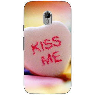 Enhance Your Phone Kiss me  Back Cover Case For Moto G3 E670726