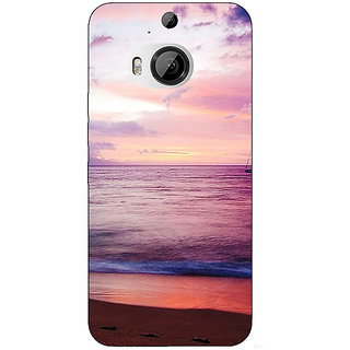 Enhance Your Phone Sunset At the Beach Back Cover Case For HTC M9 Plus E681136