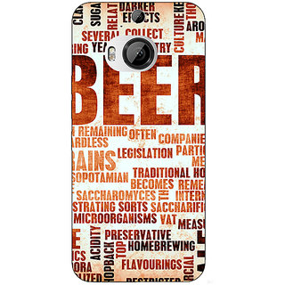 Enhance Your Phone Beer Quote Back Cover Case For HTC M9 Plus E681242