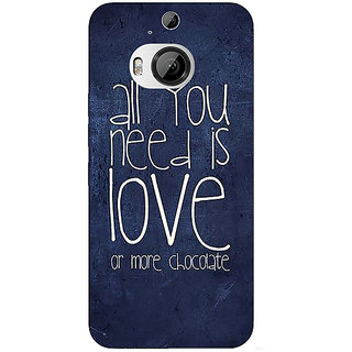 Enhance Your Phone Love Quote Back Cover Case For HTC M9 Plus E681328