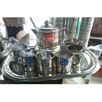 8 Pcs Tea Set - 1 Kettle ,6 Cups And Tray
