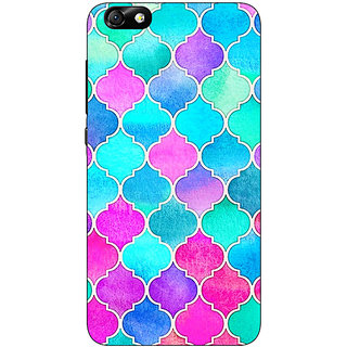 Enhance Your Phone Pink Blue Moroccan Tiles Pattern Back Cover Case For Huwaei Honor 4X