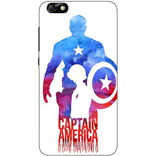 Enhance Your Phone Superheroes Captain America Back Cover Case For Huwaei Honor 4X