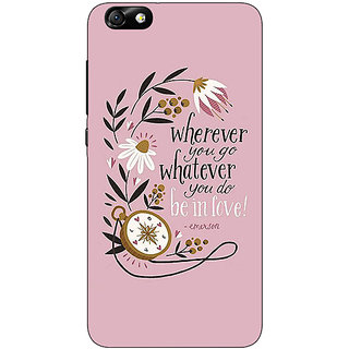 Enhance Your Phone Quotes Pink Back Cover Case For Huwaei Honor 4X