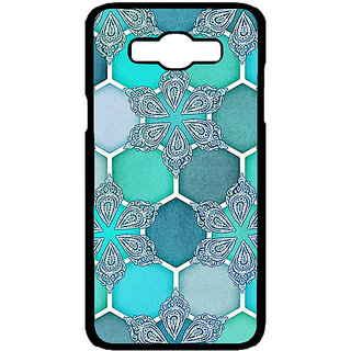 Enhance Your Phone Floral Hexagons Pattern Back Cover Case For Samsung Galaxy J7