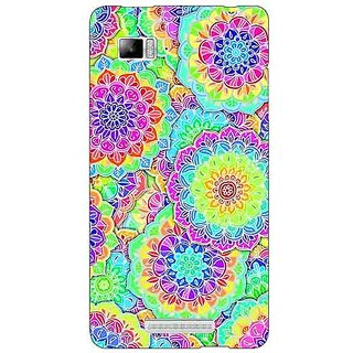 Enhance Your Phone Psychdelic Floral  Pattern Back Cover Case For Lenovo K910