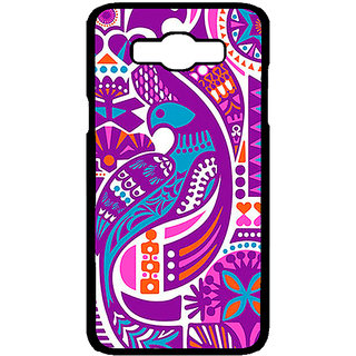 Enhance Your Phone Paisley Beautiful Peacock Back Cover Case For Samsung Galaxy J7