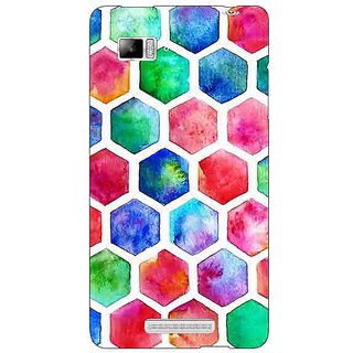 Enhance Your Phone Colour Hexagons Pattern Back Cover Case For Lenovo K910