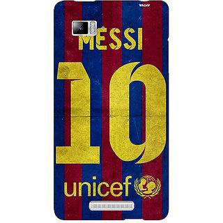 Enhance Your Phone Barcelona Messi Back Cover Case For Lenovo K910
