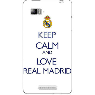 Enhance Your Phone Real Madrid Back Cover Case For Lenovo K910