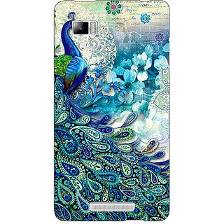 Enhance Your Phone Peacock Canvas Back Cover Case For Lenovo K910