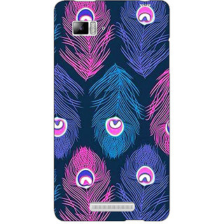 Enhance Your Phone Feather Pattern Back Cover Case For Lenovo K910