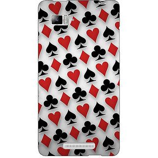 Enhance Your Phone Club Spade Diamond Heart  Back Cover Case For Lenovo K910