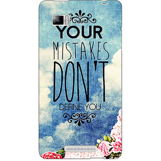 Enhance Your Phone Quotes Mistakes Back Cover Case For Lenovo K910