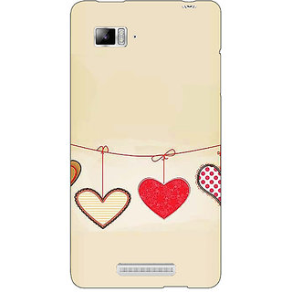 Enhance Your Phone Hearts Back Cover Case For Lenovo K910