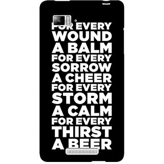 Enhance Your Phone Beer Quote Back Cover Case For Lenovo K910