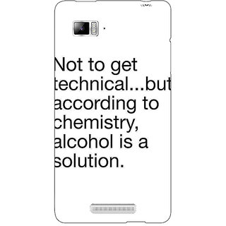 Enhance Your Phone Alcohol Quote Back Cover Case For Lenovo K910